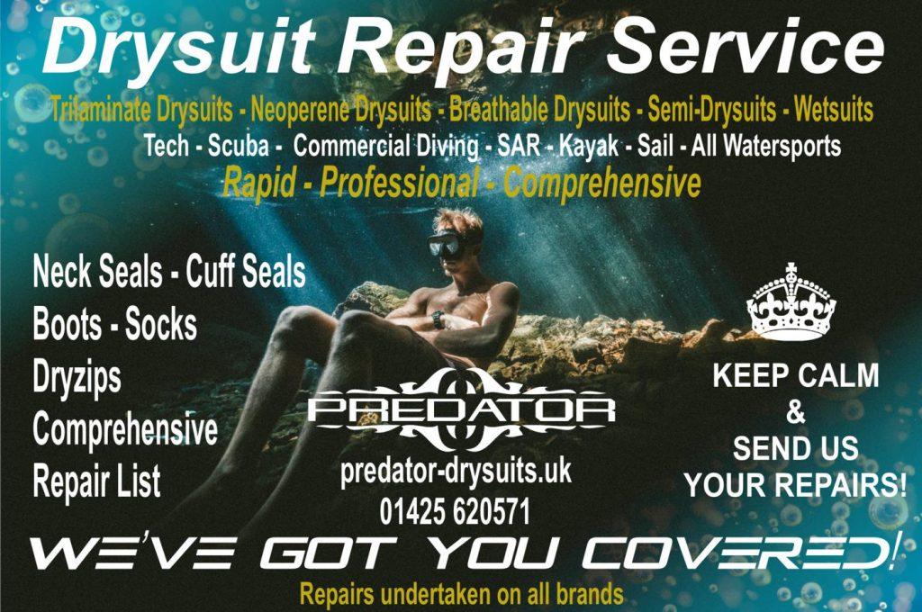drysuit repair dive kayak sail